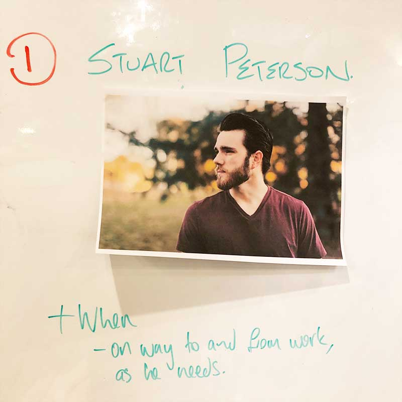 "Our persona: meet Stuart ""Paleo"" Peterson."